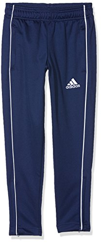adidas Kinder Core 18 Trainingshose,blau (Dark Blue/White), DE: 140