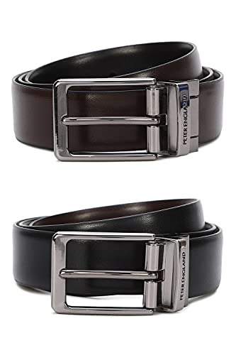 Peter England Men's Belt (PL600019_Black_L)