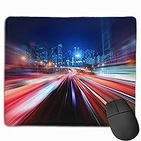 マウスパッド オフィス 最適 光 ハレーション スピード 光線速度 都市 速い ゲーミング 光学式マウス対応 防水性 耐久性 滑り止め 多機能 標準サイズ25cm×30cm