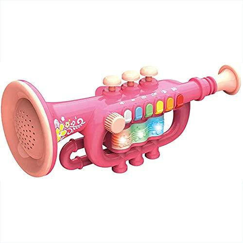 LHZMD Trompeta De Trompeta Infantil De Plástico Trompeta De Juguete Trompeta Infantil Instrumento De Viento De Juguete para Aprender Y Practicar Instrumentos Musicales para Niños,B2