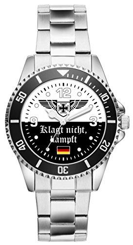 KIESENBERG - Soldat Geschenk Bundeswehr Artikel Klagt Nicht kämpft Uhr 2504
