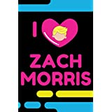 Saved by the Bell Notebook - I Heart Zach Morris - I Love Zach Morris - Saved by the Bell Fan Merch - 90s TV Shows - 90s Merchandise - 90s Back to School Merch - Neon Colors