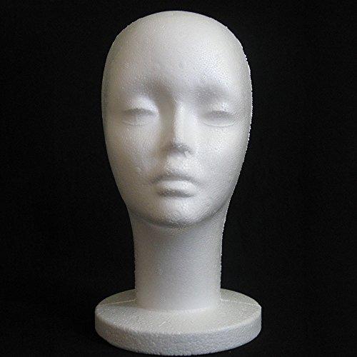 AC1 Perücke für Damen, weibliche Styropor-Mannequin-Mannequin-Modell, Schaumstoff-Perücke, Haarschmuck, Brillen-Display