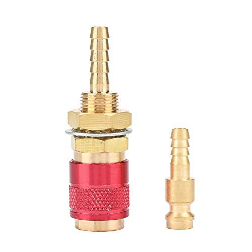 Conector de manguera de montaje rápido de alta eficiencia Máquina de soldadura Juego de conectores rápidos de enchufe rápido de agua Adaptador refrigerado por agua para antorcha de soldador(red)