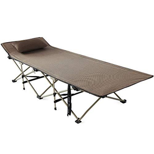 N/Z Campingausrüstung Campingbett Outdoor Campingbett für Erwachsene Klappzeltbett Schlafbett Tasche für Camp Outdoor Büro Verwendung zum Angeln Camping (Farbe: Braun Größe: 190 mal; 70 mal; 45 cm)