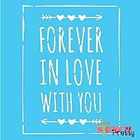 ステンシル - Forever in Love with You DIY バレンタインサイン Multipack (S, M, L) SMP-SL19-S-M-L