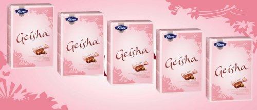 Geisha Milch Schokoladen mit weichem Haselnuss Füllung 150g by Karl Fazer [Packung mit 5 stück]