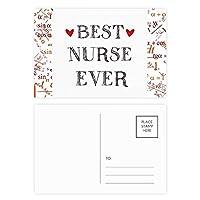 これまでに最高の看護婦の引用を尊重 公式ポストカードセットサンクスカード郵送側20個