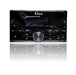 Cave Double Din Car MP3 Player with Bluetooth, FM, USB, AUX Audio Receiver car Stereo Set, Color: Black, Cave 105,RJ Car Decorators,Cave105
