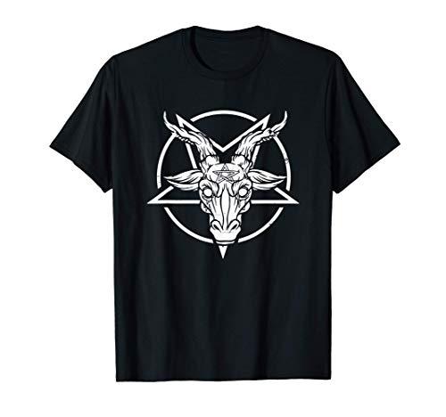 Pentagrama Baphomet cabeza de cabra I satnico Camiseta