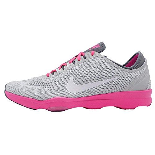 Nike WMNS Zoom Fit, Damen Tennisschuhe Silber EU 41