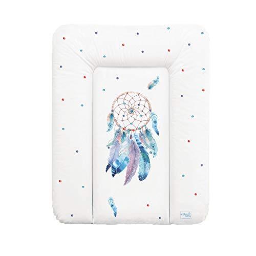 Wickelauflage Wickelunterlage Wickeltischauflage 70x50 cm Abwaschbar für Mädchen und Junge - Sueno 70x50