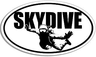 JR Studio 3x5 inch Oval Skydive w/Parachuter Sticker - Decal Sky Dive Fun Skydiving Jump Vinyl Decal Sticker Car Waterproof Car Decal Bumper Sticker