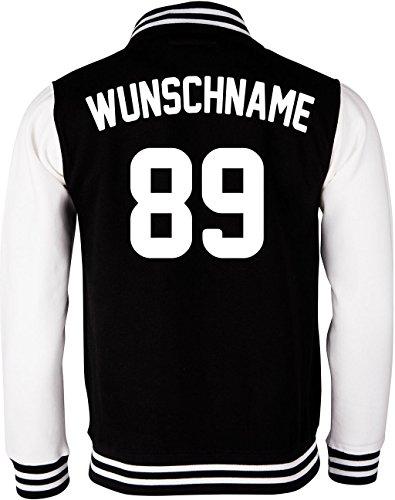 EZYshirt® Damen Herren Kinder College Jacke Athletic mit Wunschnamen und Wunschnummer | Baseball Jacke |