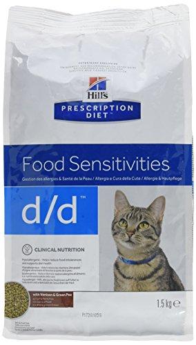 Hill's Alimento Dietético para Gato D/D Venado y Guisantes - 2 Paquetes de 1500 gr - Totale: 3000 gr