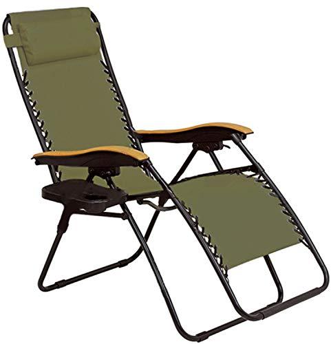 チェア リラックスチェア 椅子 いす アウトドアチェア リクライニング 折りたたみ 安全ロック付き アウトドア インドア ハイバック コンパクト 枕 サイドテーブル 軽量 キャンプ おしゃれ 北欧 (カーキ)