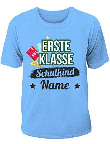 T-Shirt Einschulung/Schulanfang: Erste Klasse Schulkind mit Wunschnamen