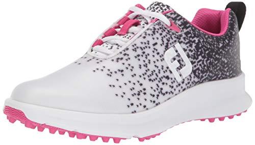 FootJoy Women's FJ Leisure Golf Shoes, Black/White, 6.5 M US