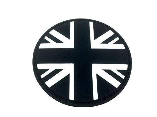 Patch Nation Union Jack Schwarz Runde-Flaggen PVC Klett Emblem Abzeichen