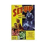 Póster retro de la película Set Up de 1949, pintura decorativa en lienzo, para sala de estar, dormitorio, 30 x 45 cm