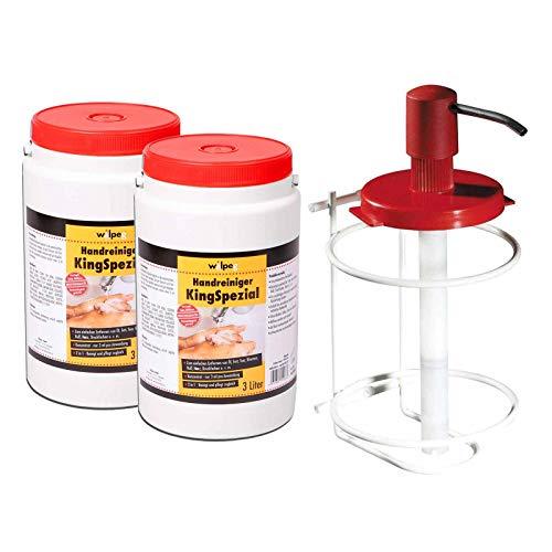 WILPEG Handreiniger KingSpezial - 6 Liter inkl. Spendersystem, Handwaschpaste, Reinigungspaste