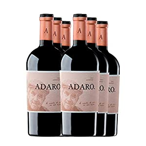 PRADOREY Adaro - Vino tinto - Crianza - Ribera del Duero - Vino de autor - 100% Tempranillo - Vino homenaje al fundador de la marca, Javier Cremades de Adaro - 6 Botellas - 0,75 L