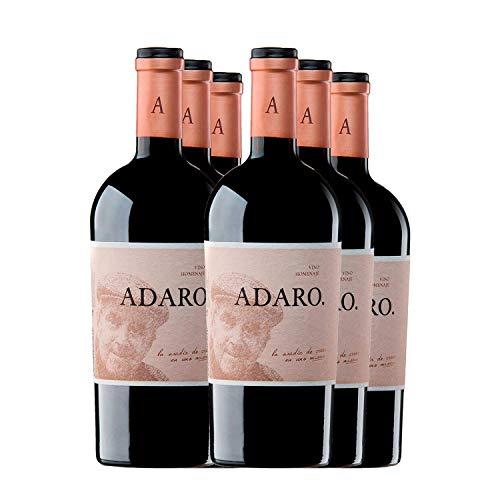 PradoRey Adaro - Vino tinto Crianza Ribera del Duero - Vino de autor 100% Tempranillo Vino homenaje al fundador de la marca, Javier Cremades de Adaro, 0,75 L, 6 unidades
