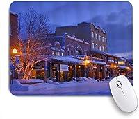 NIESIKKLAマウスパッド 冬の夜明けダウンタウントラッキーパターンデジタルプリント ゲーミング オフィス最適 高級感 おしゃれ 防水 耐久性が良い 滑り止めゴム底 ゲーミングなど適用 用ノートブックコンピュータマウスマット