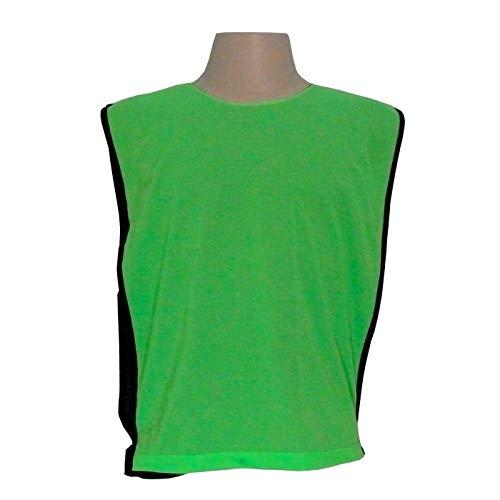 Jogo de Coletes Dupla Face 15 Unidades na cor Verde Limão/Preto