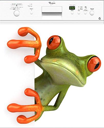 Stickersnews Aufkleber für Spülmaschine Frosch, magnetisch, Maße 60 x 60 cm