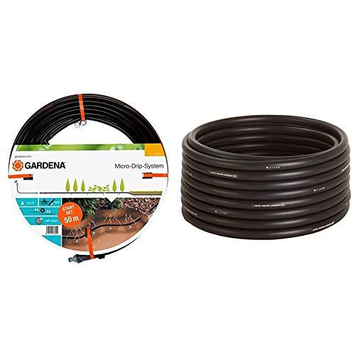 Gardena Start-Set Tropfrohr für Pflanzenreihen unterirdisch 13.7 mm & Sprinklersystem Verlegerohr: Die zentrale Versorgungsleitung für das Gardena Sprinklersystems, Außendurchmesser 25 mm, 50 m-Rolle