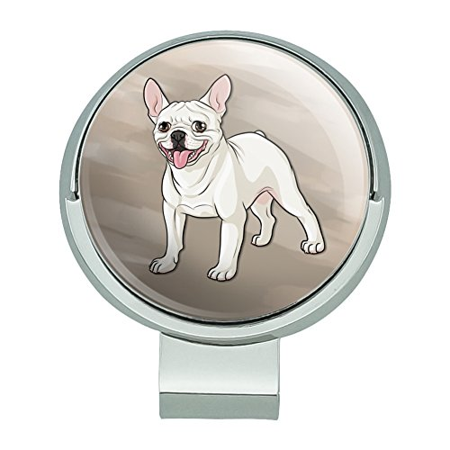 GRAPHICS & MORE French Bulldog Smiling Pet Dog Golf Hat Clip with Magnetic Ball Marker
