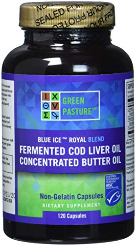 Green Pasture Blue Ice Royal Butter/Fermented Cod Liver Oil Blend - 120 Capsules