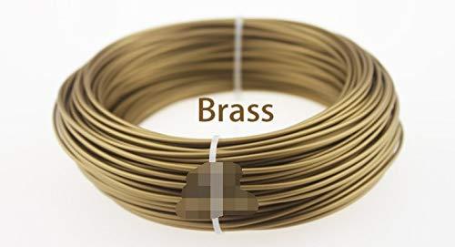 L-SHUNBAO LSB-3D Prints, Impresora 3D 100g 1pc metálico de filamento, el 30% de Contenido de Metales filamentos -Pure Cobre/latón/Bronce/Cobre/Aluminio, 1,75 (Color : Latón)