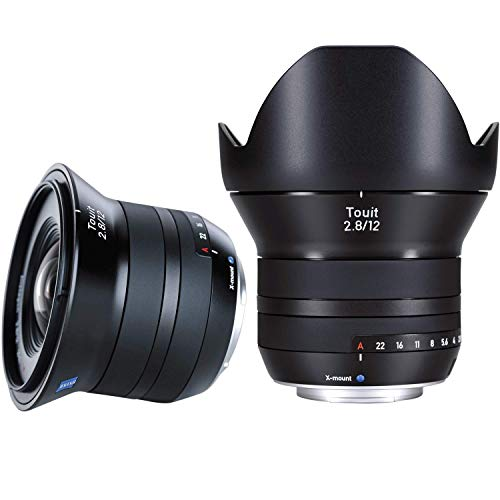 Zeiss Touit 2.8/12 Wide-Angle Camera Lens for Fujifilm X-Mount Mirrorless Cameras, Black
