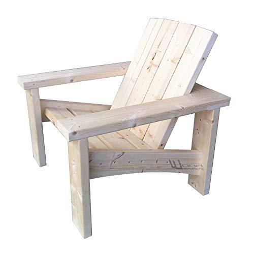 Wood Structure Fauteuil Sapin XL pour Salon de Jardin