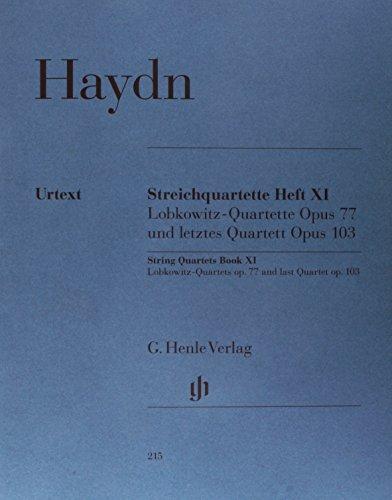Streichquartette Heft XI op. 77 + 103. 2 Violinen, Viola, Violoncello