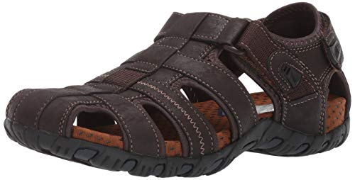 Nunn Bush Men's Rio Bravo Fisherman Closed Toe Outdoor Sandal, Brown, 10 W US