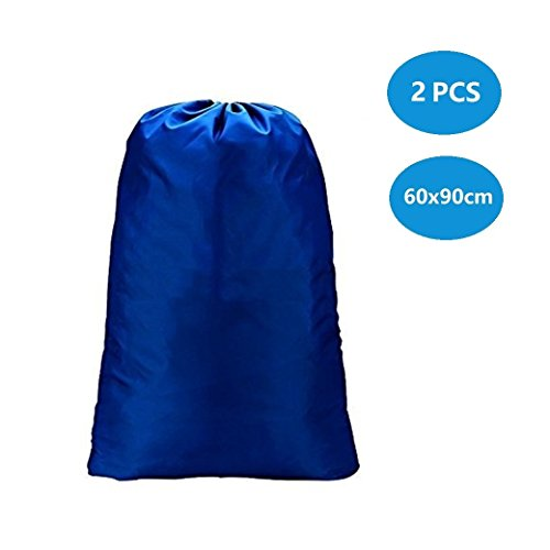 DoGeek cesta portabiancheria Grande Laundry Bags,Travel Toiletries Bags Organiser Waterproof Home Drawstring Laundry Bag Storage Bags,Blu,2 PCS