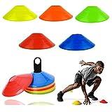 Xizhan 10/20/50 Stück Markierungshütchen Hütchen Fussball Markierungsteller für das Hütchen...