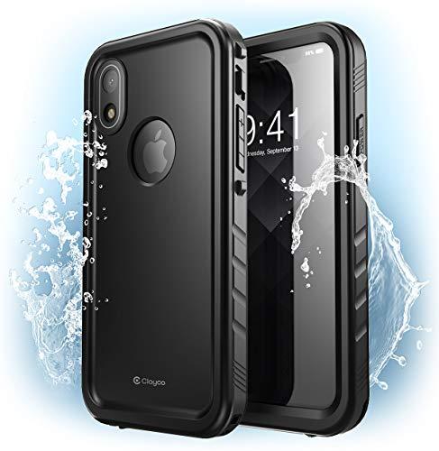 iPhone XR Waterproof Case Capa, Clayco Omni Underwater Case Shockproof Snowproof Dirtproof Capa à prova de sujeira à prova de neve à prova de choque com protetor de tela embutido para Apple iPhone XR 6,1 polegadas 2018 (Preto)