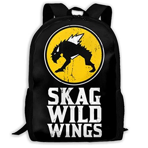 FGHJY Hochleistungs-Unisex-Rucksack für Erwachsene Skag Wild Wings Büchertasche Reisetasche Schultaschen Laptoptasche