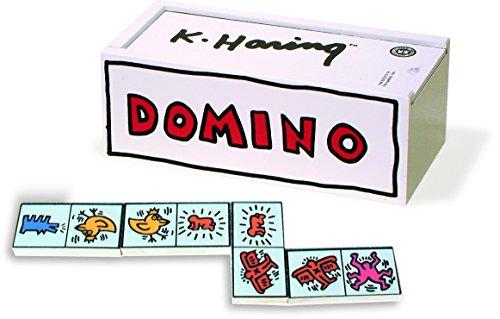 Vilac - Domino, Tessere con Illustrazioni in Stile Keith Haring