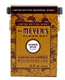 MRS. MEYER'S, Candle Acorn Spice, 4.9 Ounce (Pack - 2)