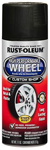 Rust-Oleum 248928 Automotive High Performance Wheel Spray Paint, 11 oz., Matte Black