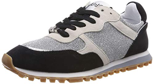 Liu Jo Shoes Alexa-Running, Scarpe da Ginnastica Basse Donna, Multicolore (Black/White 00054), 38 EU