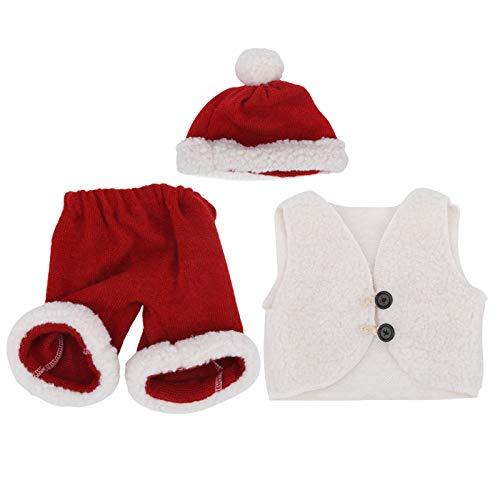 Conjunto de ropa de bebé niña Traje de Santa para sombrero infantil Chaleco Shorts(Hat + vest + shorts)