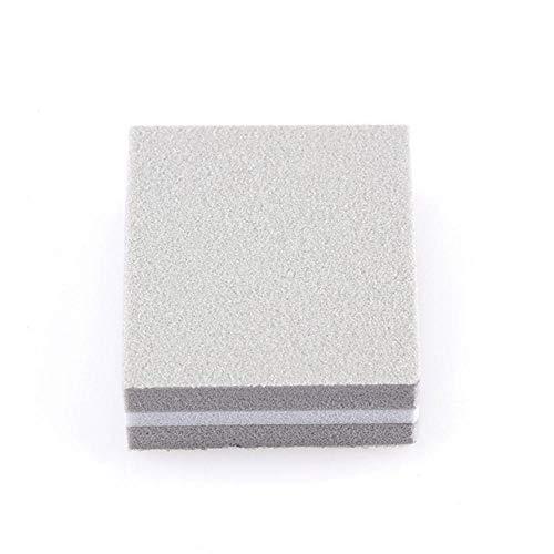 Boner 5-delige elastische spons Dubbelzijdige mini-nagellak Fijnschuren Polijstblok Nagelvijlen Manicure Trim Tools, grijs