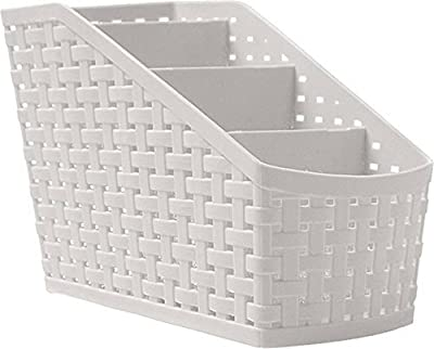 SNEHERI 4 Sections Plastic Storage Basket/Compact Basket/for Kitchen,Bathrooms,Office Multi Purpose Use 1 Pc- Color may vary. (MADE IN INDIA)