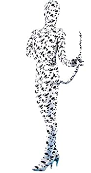 VSVO Unisex Spandex Full Body Suit for Adults and Children  Kids Medium White   Small Spotted Dog with Tail